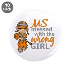 "Combat Girl MS 3.5"" Button (10 pack)"