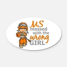 Combat Girl MS Oval Car Magnet