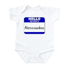 hello my name is alessandro  Infant Bodysuit