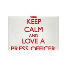 Keep Calm and Love a Press Officer Magnets