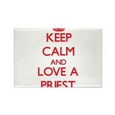 Keep Calm and Love a Priest Magnets
