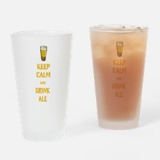 Keep Calm and Drink Ale Drinking Glass