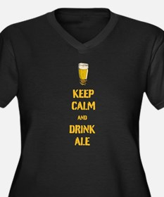 Keep Calm and Drink Ale Plus Size T-Shirt