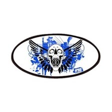 Winged Skull Disc Golf Patches