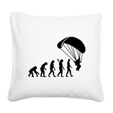Evolution Skydiving Square Canvas Pillow