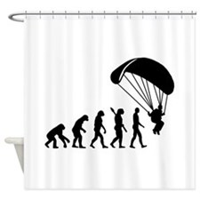 Evolution Skydiving Shower Curtain