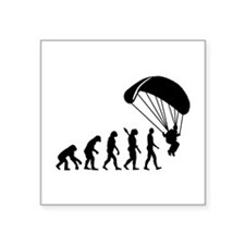 "Evolution Skydiving Square Sticker 3"" x 3"""