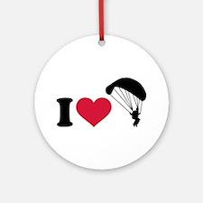 I love Sky diving Ornament (Round)