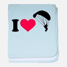 I love Sky diving baby blanket