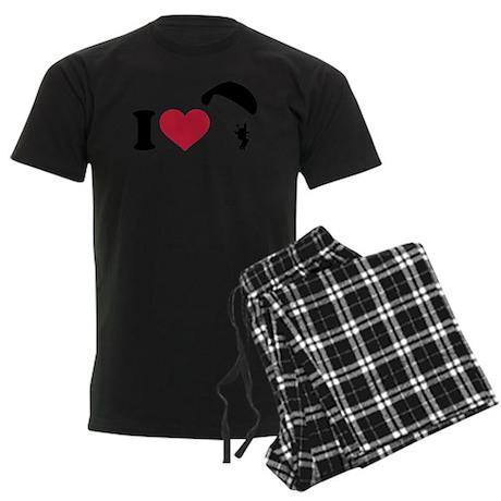 I love Sky diving Men's Dark Pajamas