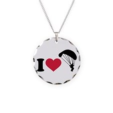 I love Sky diving Necklace