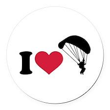 I love Sky diving Round Car Magnet