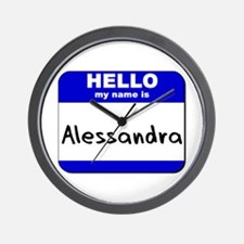 hello my name is alessandra  Wall Clock