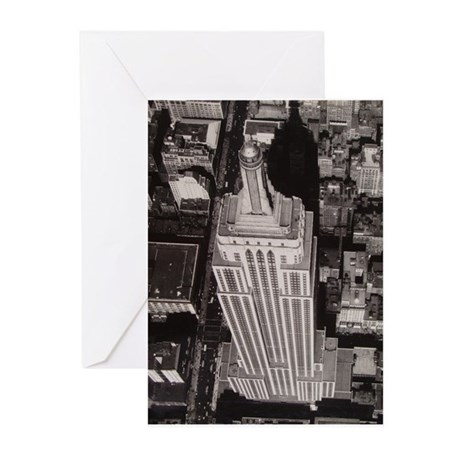 Empire state Buildin Greeting Cards