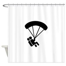 Skydiving tandem Shower Curtain