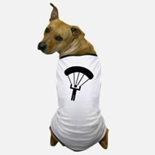 Skydiving icon Dog T-Shirt
