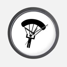 Skydiving icon Wall Clock