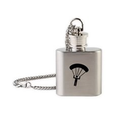 Skydiving icon Flask Necklace