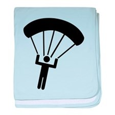 Skydiving icon baby blanket