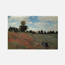 A Field of Poppies Rectangle Magnet