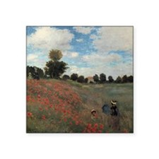 """A Field of Poppies Square Sticker 3"""" x 3"""""""