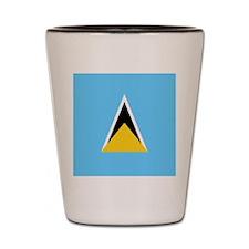 Flag of Saint Lucia Shot Glass