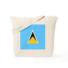 Flag of Saint Lucia Tote Bag