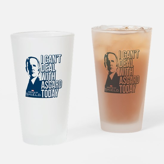 Can't Deal with Asgard Drinking Glass