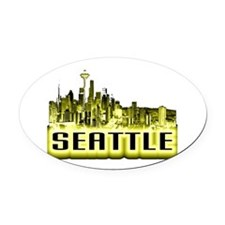 Seattle Oval Car Magnet