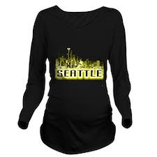 Seattle Long Sleeve Maternity T-Shirt