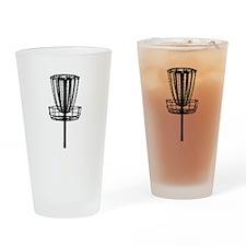 Disc Golf Basket Drinking Glass