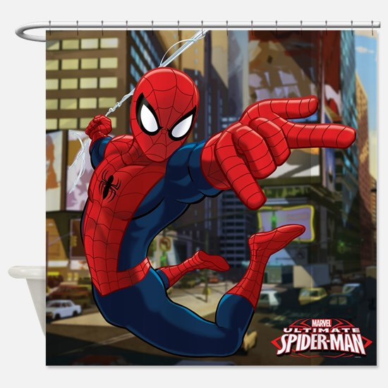Ultimate Spider-Man Shower Curtain