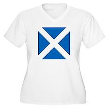 Flag of Scotland Plus Size T-Shirt