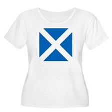 Flag of Scotland Plus Size T-Shirt