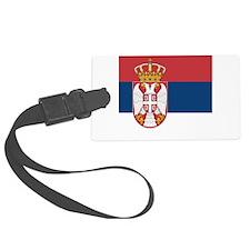 Flag of Serbia Luggage Tag