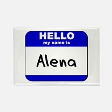 hello my name is alena Rectangle Magnet