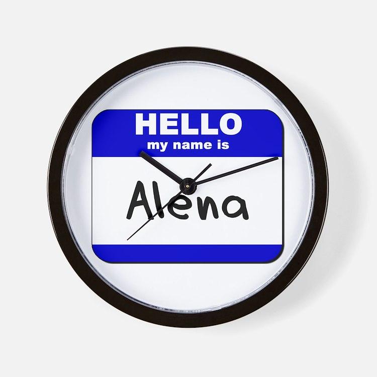 hello my name is alena  Wall Clock