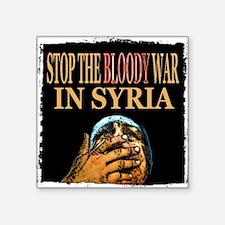 Stop The War In Syria Sticker