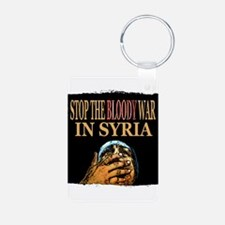 Stop The War In Syria Keychains