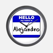 hello my name is alejandro  Wall Clock