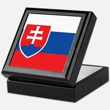 Flag of Slovakia Keepsake Box