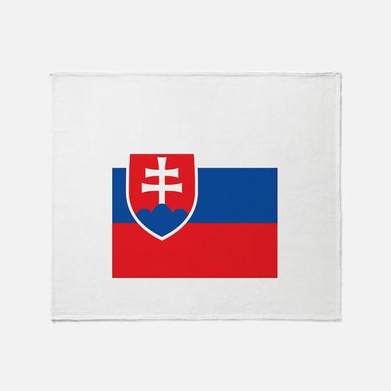 Flag of Slovakia Throw Blanket