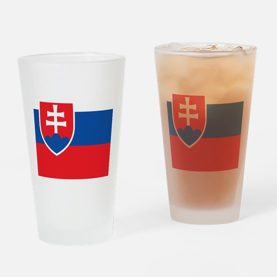 Flag of Slovakia Drinking Glass