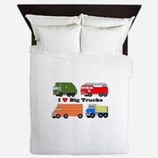 I Heart Big Trucks Queen Duvet