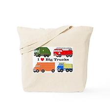 I Heart Big Trucks Tote Bag