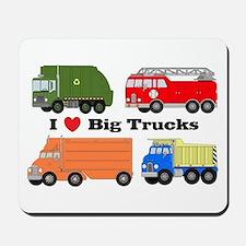 I Heart Big Trucks Mousepad