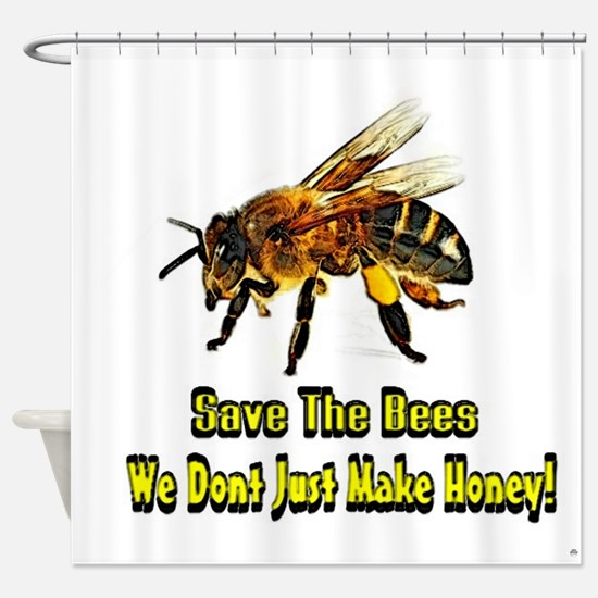 Save The Honey Bees Shower Curtain