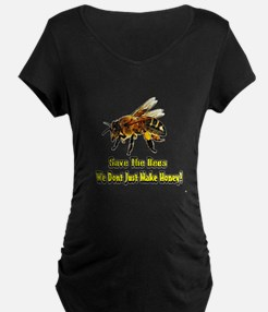 Save The Honey Bees Maternity T-Shirt