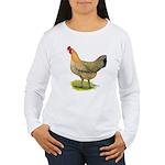 Buttercup Hen Women's Long Sleeve T-Shirt