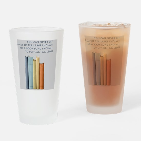 Tea and Books Drinking Glass